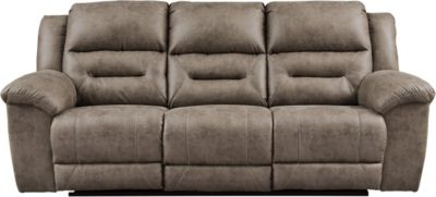 Ashley Stoneland Gray Reclining Sofa