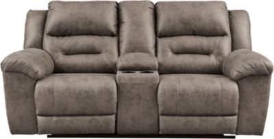 Ashley Stoneland Gray Power Reclining Loveseat