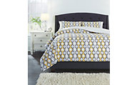 Ashley Mato Comforter 3-Piece Queen Yellow Comforter Set