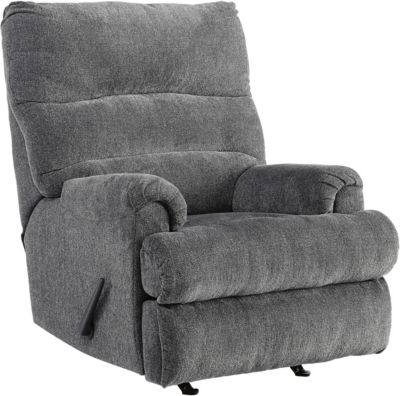 Ashley Manfort Gray Rocker Recliner