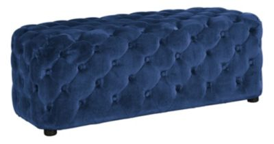 Ashley Lister Navy Accent Bench