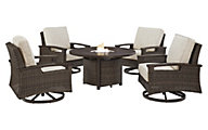 Ashley Paradise 5-Piece Fire Pit Set