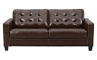 Ashley Altonbury Walnut Leather Sofa