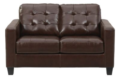 Ashley Altonbury Walnut Leather Loveseat