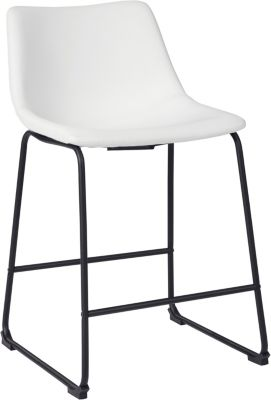 Ashley Centiar White Counter Stool