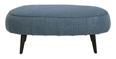 Ashley Hollyann Blue Oversized Ottoman