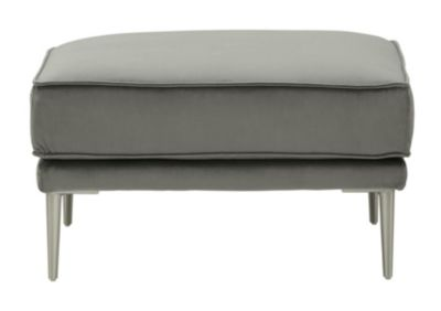 Ashley Macleary Steel Ottoman