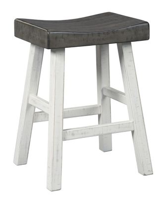 Ashley Glosco White Counter Stool
