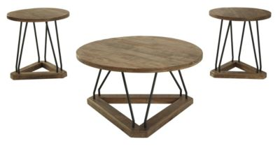 Ashley Frielone Coffee Table & 2 End Tables