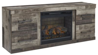 Ashley Derekson TV Stand with Log Fireplace
