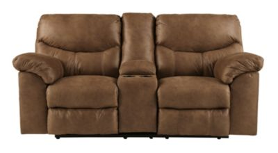 Ashley Boxberg Brown Power Recline Console Loveseat