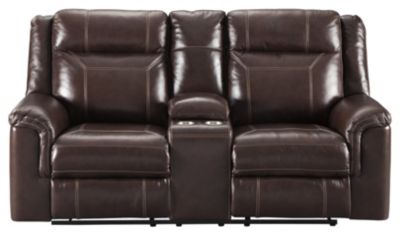 Ashley Wyline Leather Power Motion Loveseat