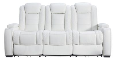Ashley Party Time Power Motion Sofa with Drop Down Table