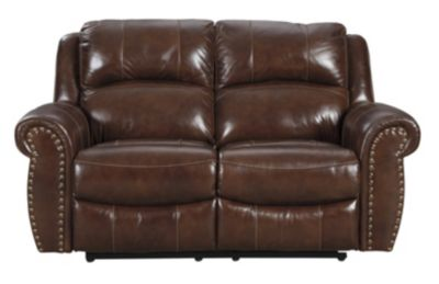 Ashley Bingen Leather Reclining Loveseat