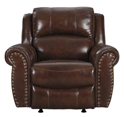 Ashley Bingen Leather Rocker Recliner