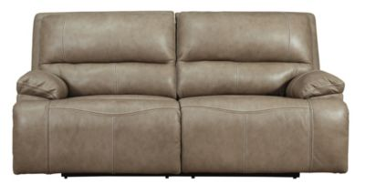 Ashley Ricmen Putty Leather Power Motion Sofa