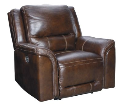 Ashley Catanzaro Leather Recliner with Power Headrest