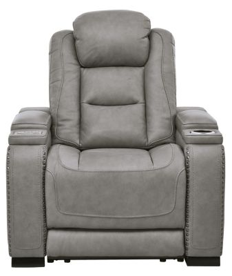 Ashley Man-Den Leather Power Motion Recliner