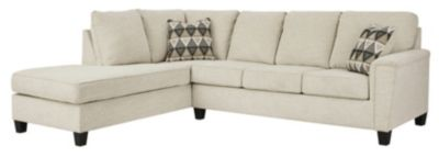 Ashley Abinger Natural 2-Piece Sectional with Left-Facing