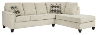 Ashley Abinger Natural 2-Piece Sectional with Right-Facin