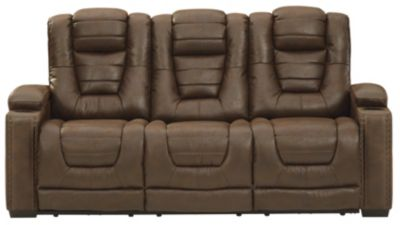Ashley Owner's Box Power Headrest Sofa with Drop Down Tab