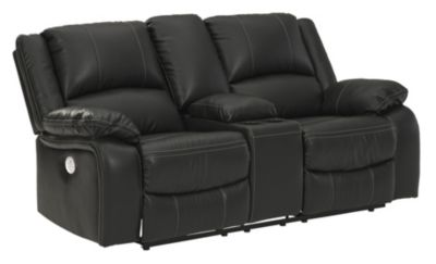 Ashley Calderwell Power Reclining Loveseat with Console