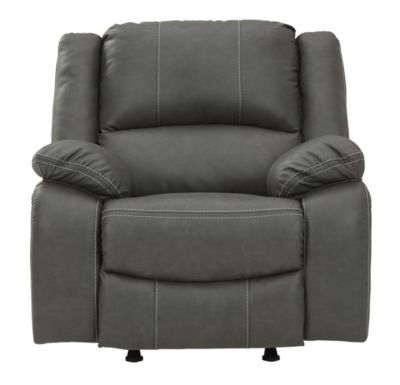 Ashley Calderwell Gray Power Rocker Recliner