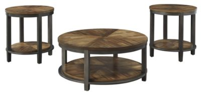 Ashley Roybeck Coffee Table & 2 End Tables