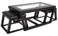 Ashley Kelton Coffee Table with Nesting Stools