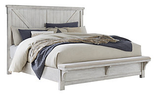 Ashley Brashland Queen Bed with Bench Footboard