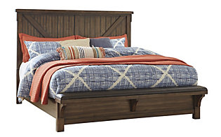 Ashley Lakeleigh King Bed with Bench Footboard