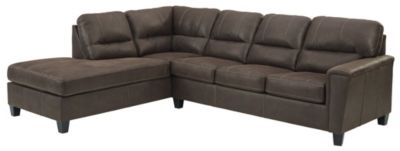 Ashley Navi Chestnut 2-Piece Sectional with Right-Facing