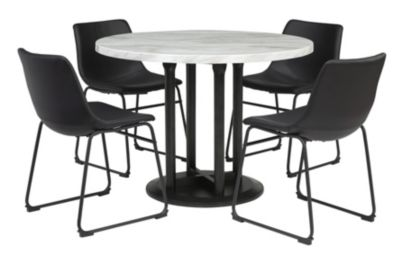 Ashley Centiar White and Black 5-Piece Dining Set