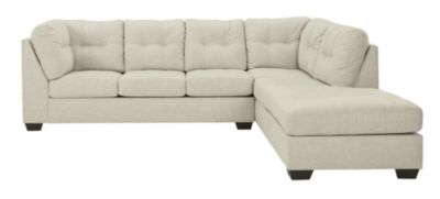 Ashley Falkirk Parchment 2-Piece Sectional with Left-Faci
