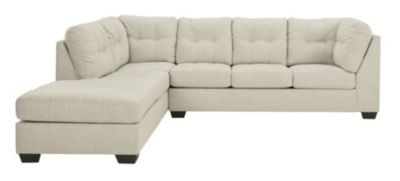 Ashley Falkirk Parchment 2-Piece Sectional with Right-Fac