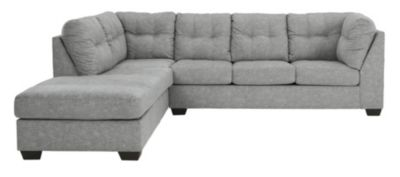 Ashley Falkirk Steel 2-Piece Sectional with Right-Facing