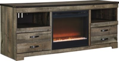 Ashley Trinell TV Stand with Fireplace