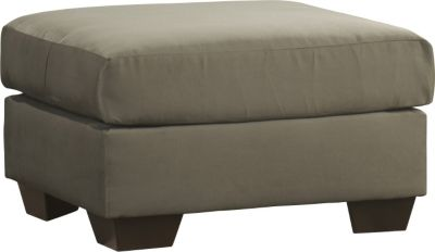Ashley Darcy Microfiber Green Ottoman