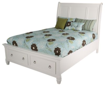 Ashley Prentice White Queen Storage Bed