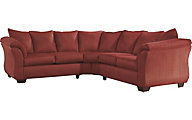 Ashley Darcy Microfiber Red 2-Piece Sectional