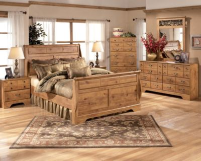 Ashley Bittersweet 4-Piece King Sleigh Bedroom Set
