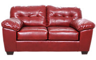 Ashley Alliston Salsa Bonded Leather Loveseat