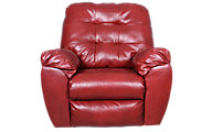 Ashley Alliston Salsa Bonded Leather Rocker Recliner