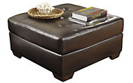 Ashley Alliston Chocolate Bonded Leather Ottoman