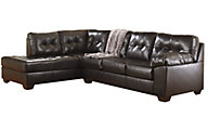 Ashley Alliston Chocolate Bonded Ltr 2-Piece Sectional