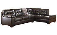 Ashley Alliston Chocolate 2-Piece Sectional