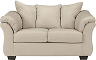 Ashley Darcy Microfiber Cream Loveseat