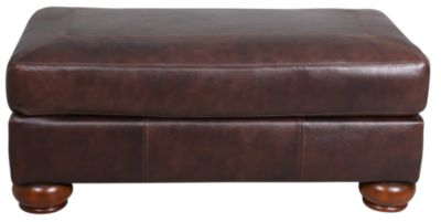 Ashley Axiom 100% Leather Ottoman