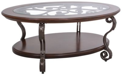 Ashley Nestor Oval Coffee Table Homemakers Furniture - Ashley furniture oval coffee table
