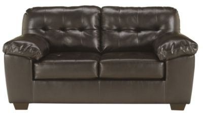Ashley Alliston Chocolate Bonded Leather Loveseat